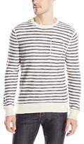 Calvin Klein Jeans Men's Mini Stripe Pocket Crew Neck Sweater