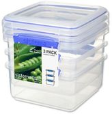 Bed Bath & Beyond Sistema® KLIP ITTM 1.2-Liter Lunch Plus Food Storage Containers (Set of 3)