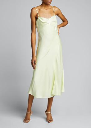 Jason Wu Collection Lace-Trim Satin Slip Dress