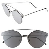 Spitfire Women's Trip Hop 2 55Mm Sunglasses - Clear/ Silver Mirror