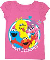 Freeze Hot Pink Sesame Street 'Best Friends' Tee - Toddler & Girls