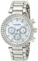 Akribos XXIV Women's AK681SS Lady Diamond Quartz Stainless Steel Bracelet Watch