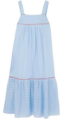 Paul & Joe Bow-embellished Striped Cotton-blend Poplin Midi Dress