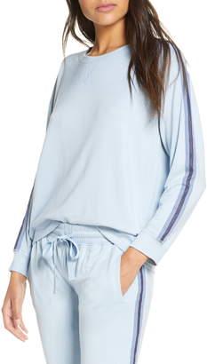 Splendid Stripe Sleeve Sweatshirt