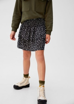MANGO Ruffled polka dot skirt