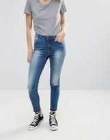Pieces Thrine Cropped Raw Hem Skinny Jeans