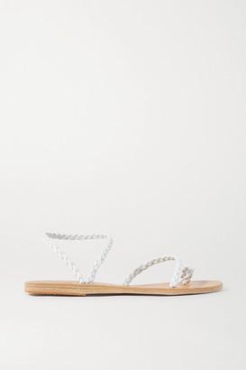 Ancient Greek Sandals Eleftheria Braided Leather Sandals - White