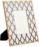 Dana Gibson Large White Quatrefoil Frame
