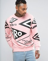House of Holland x Umbro Sweatshirt With All Over Logo Print