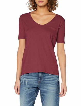 G Star Women's Adisyon Straight Deep V T 1/2 Sl T-Shirt