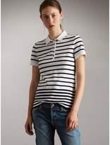 Burberry Striped Stretch Cotton Piqué Polo Shirt