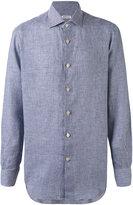 Kiton classic shirt - men - Linen/Flax - 39