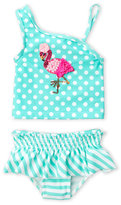 Flapdoodles Toddler Girls) Two-Piece Embroidered Flamingo Tankini Swimsuit