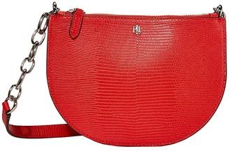 Lauren Ralph Lauren Lizard Embossed Sutton 22 Crossbody Medium (Sporting Red) Handbags