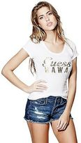 GUESS Women's Short-Sleeve Aloha Logo Tee