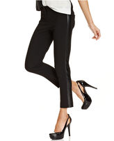 Amy Byer Juniors Pants, Skinny Cropped Faux-Leather Tuxedo-Stripe