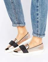 Miss KG Lisa Metallic Bow Point Sneakers