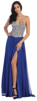 May Queen Alluring Sequined Sweetheart Chiffon A-Line Dress