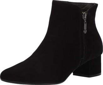 Marc Joseph New York Women's Genuine Leather Block Heel with Zipper Detail Spruce Street Bootie Ankle Boot