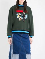 Ground Zero Leon embroidered cotton-jersey sweatshirt
