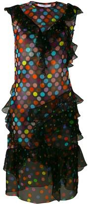 Givenchy polka dot ruffled dress