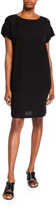Eileen Fisher Plus Size Organic Cotton Short-Sleeve Gauze Dress