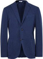 Boglioli - Blue K-jacket Slim-fit Cotton And Linen-blend Suit Jacket