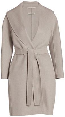 Max Mara Belted Wool Wrap Coat