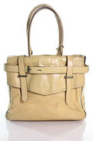 Reed Krakoff Yellow Leather Multi-Compartment Tote Handbag