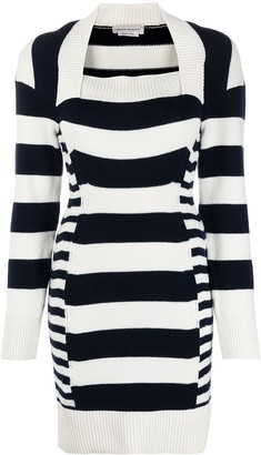 Alexander McQueen Patterned Intarsia-Knit Dress