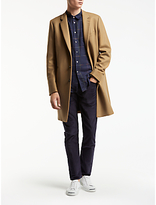 Ps By Paul Smith Button Epsom Wool Cashmere Overcoat, Camel