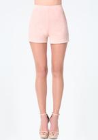Bebe Faux Suede Mini Shorts