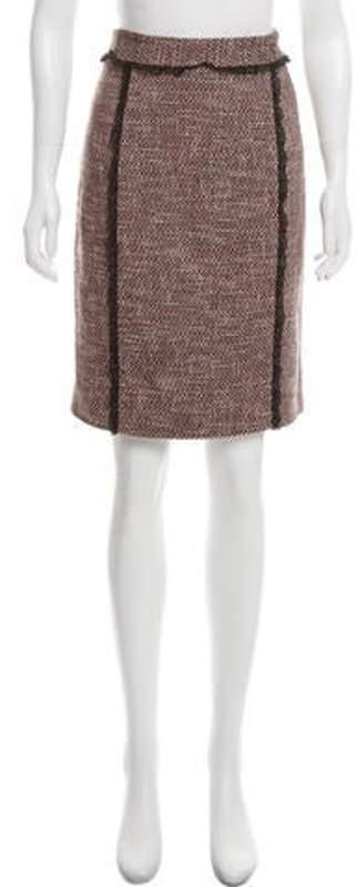 RED Valentino Tweed Knee-Length Skirt Pink Tweed Knee-Length Skirt