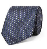 Ermenegildo Zegna 7cm Silk-jacquard Tie - Midnight blue