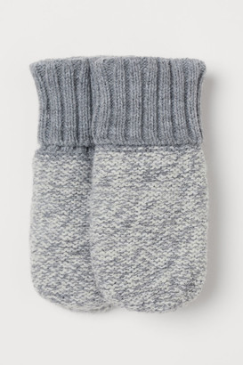 H&M Knit Mittens - Gray