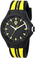 Ferrari Men's 0830171 Pit Crew Analog Display Quartz Black Watch