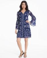 White House Black Market Lace Inset Floral Shift Dress