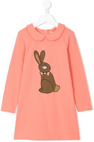 Mini Rodini rabbit print dress - kids - Organic Cotton/Spandex/Elastane - 3 yrs