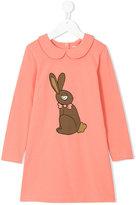Mini Rodini rabbit print dress - kids - Organic Cotton/Spandex/Elastane - 3 yrs
