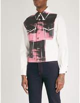 Calvin Klein Andy Warhol print denim jacket