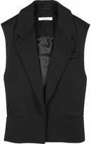 Wool sleeveless blazer