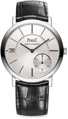 Piaget Altiplano Ultra-Thin 18K White Gold & Black Alligator Strap Watch