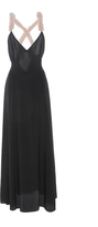 Natasha Zinko Silk Crepe de Chine Rex Rabbit Embellished Dress