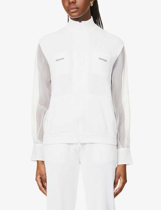 Brunello Cucinelli High-neck cotton-knit cardigan