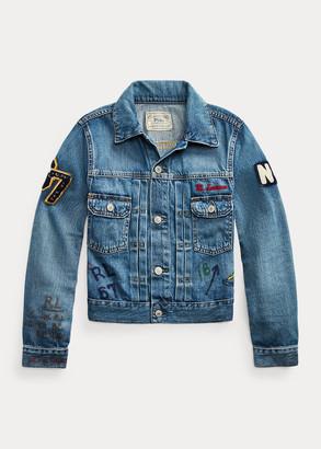 Ralph Lauren Denim Graphic Trucker Jacket