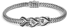 John Hardy Sterling Silver Classic Chain Black Sapphire & Black Spinel Small Bracelet, 5mm