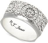 R.T. James Men's Silver-Tone Sundial Ring