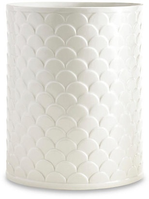 Kassatex Scala Porcelain Wastebasket - White