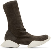 Rick Owens Grey Suede adidas by High-Top Sneakers