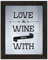PTM Images Love the Wine Framed Silkscreen